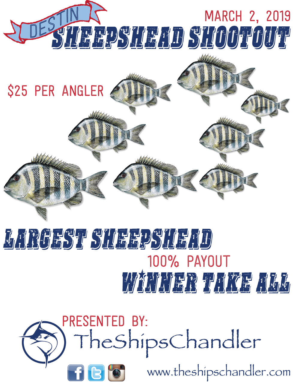 Sheepshead Shootout 2019 Poster - Sponsored by The Ships Chandler